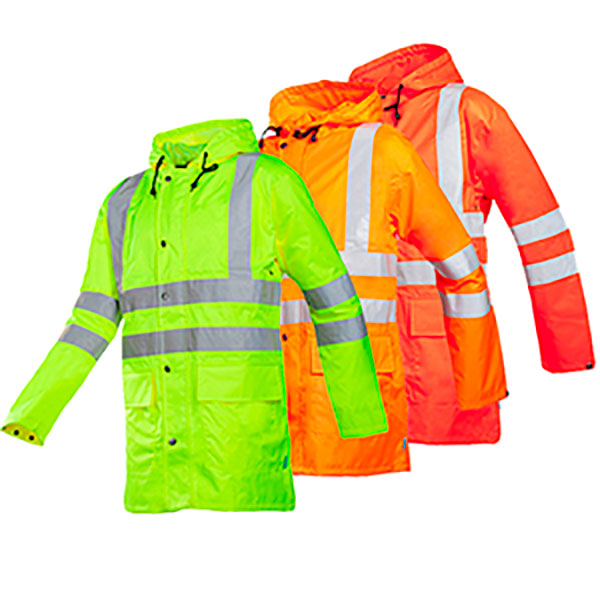 CHAQUETA IMPERMEABLE TRANSPIRABLE ALTA VISIBILIDAD MONORAY SIOEN