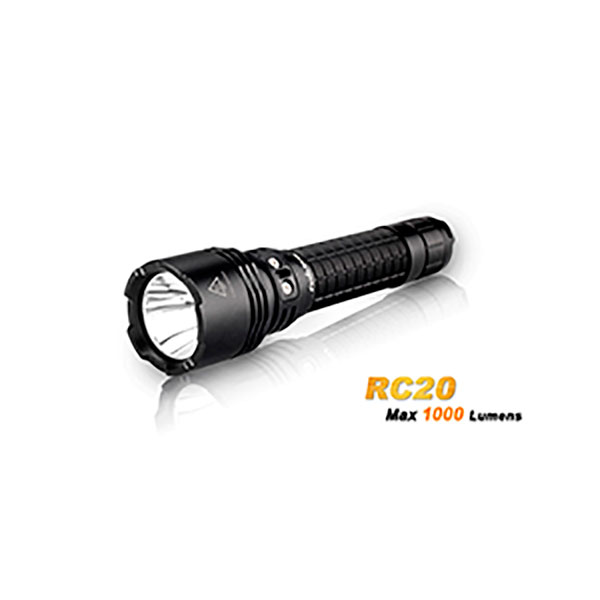LINTERNA RECARGABLE 1000 LUMENES RC20 CON CABLE USB