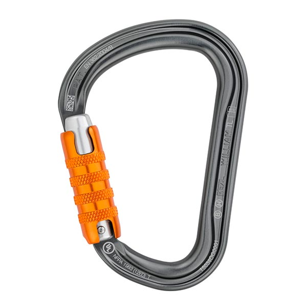 MOSQUETÓN AUTOMÁTICO ASIMÉTRICO WILLIAM TRIACT-LOCK PETZL
