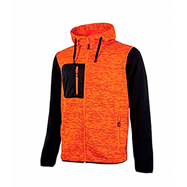 SUDADERA U-POWER CON CREMALLERA Y FORRO POLAR EY174OF
