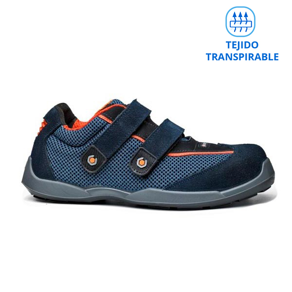 ZAPATOS SEGURIDAD CON VELCRO TRANSPIRABLES BASE B0620 SWIM S1P SRC