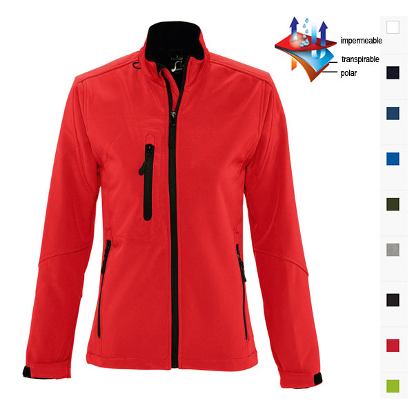 CHAQUETA SOFTSHELL MUJER CORTAVIENTOS IMPERMEABLE ROXY