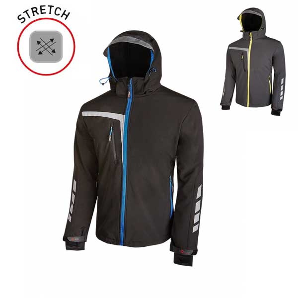 CHAQUETA SOFTSHELL STRETCH CORTAVIENTOS TRANSPIRABLE E IMPERMEABLE QUICK