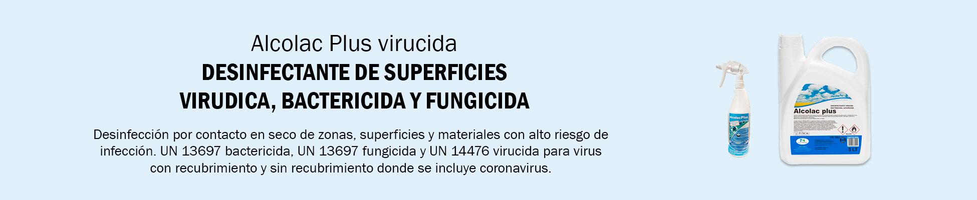 Desinfectantes de superficies Virus